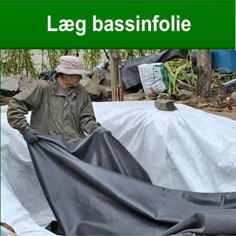 Læg dit bassinfolie i havedam