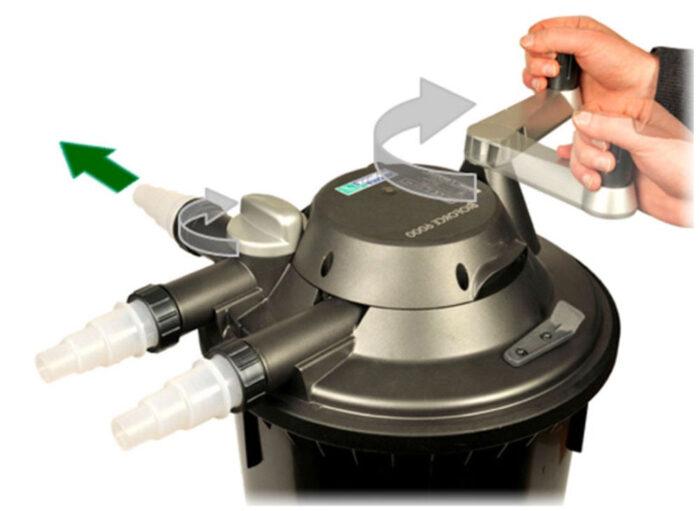 Filter til havedam - Rensning af filter