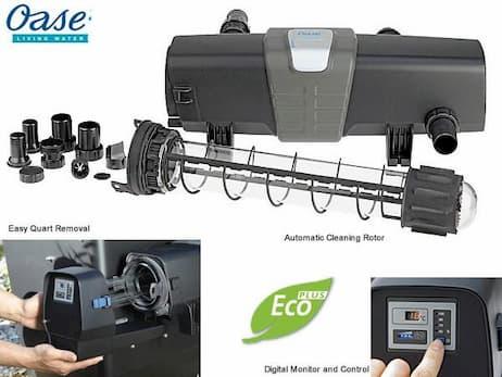 Alle Bitron ECO-modellerne kan monteres nemt og direkte på alle Oases Biotec-filtre