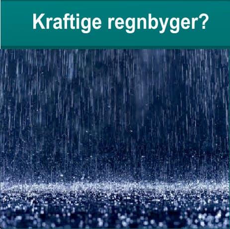 Kraftige regnbyger