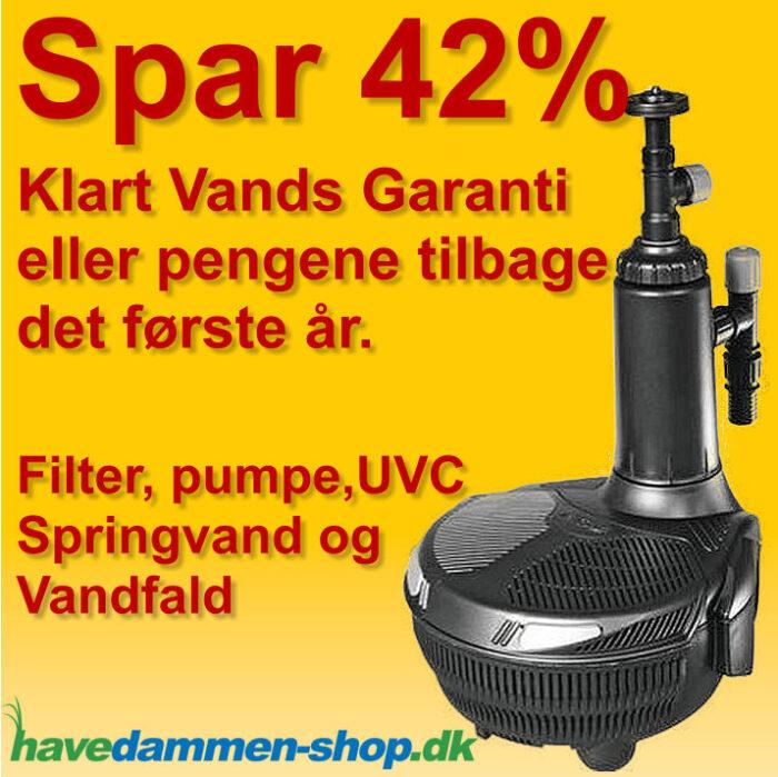 EasyClear filter pumpe med springvand