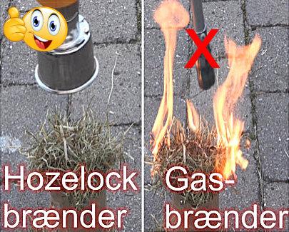 test, Gasbrænder mod Hozelock ukrudtsbrænder